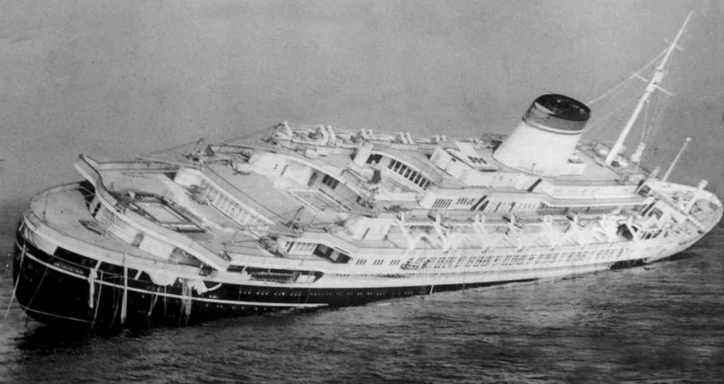 Il disastro marittimo dell 39 andrea doria il 26 luglio 1956 for Doria arredamenti