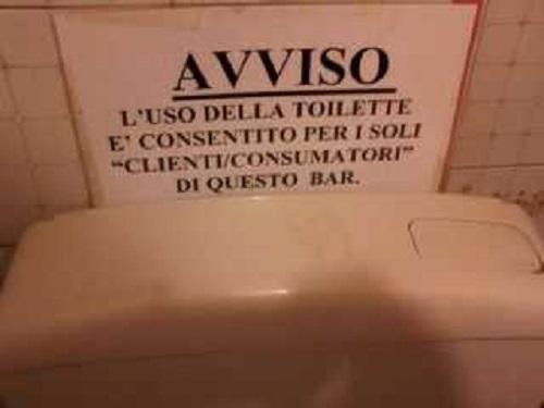 Bar e ristoranti per il tar si pu andare in bagno solo dopo aver consumato newsgo - Supposte per andare in bagno ...